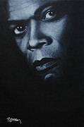 Samuel L Jackson Framed Prints - Samuel L Jackson Framed Print by Barry Mckay
