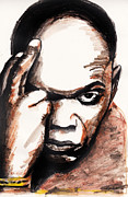Samuel L Jackson Framed Prints - Samuel L. Jackson Framed Print by Nancy Mergybrower