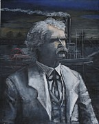 Huckleberry Finn Prints - Samuel Langhorne Clemens a.k.a Mark twain Print by Larry Lamb