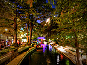 Riverwalk Photo Prints - San Antonio HDR 001 Print by Lance Vaughn
