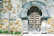 Landmarks Art - San Antonio Missions National Historical Park Mission Espada Door and Cross by Shawn OBrien