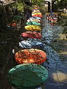 Umbrellas Digital Art - San Antonio River Cruise by Donna Lee Young
