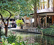 San Antonio River Walk Framed Prints - San Antonio River walk 4 Framed Print by Tessa Fairey