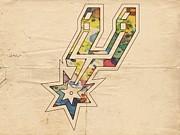 San Antonio Spurs Logo Art Print by Florian Rodarte