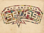 San Antonio Spurs Poster Art Print by Florian Rodarte