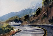 Snowy Trees Paintings - San Bernadino Pass by Sandra Strohschein