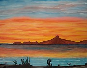 Sonora Painting Originals - San Carlos bay Mexico by Jorge Cristopulos