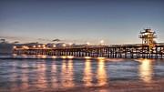 San Clemente Pier At Night Print by Richard Cheski