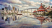 Famous Hotel Paintings - San Diego and Coronado Heritage by Sue Tushingham McNary