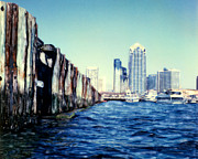 Surf Photos Art Originals - San Diego Broadway Pier by Glenn McNary
