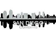 In-city Mixed Media Prints - San Diego CA 4 Print by Angelina Vick