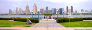 Lightposts Prints - San Diego California panorama. Print by Gino Rigucci