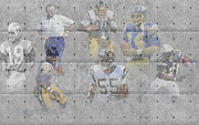 Offense Framed Prints - San Diego Chargers Legends Framed Print by Joe Hamilton