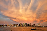 Amazing Sunset Metal Prints - San Diego Cloud Burst Metal Print by Peter Tellone