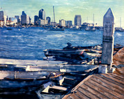 Surf Photos Art Originals - San Diego Docks by Glenn McNary