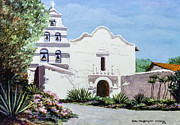 Famous Hotel Paintings - San Diego Mission De Alcala by Sue Tushingham McNary