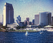 Surf Photos Art Originals - San Diego Sailing by Glenn McNary