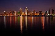 Diego Framed Prints - San Diego Skyline Framed Print by Peter Tellone