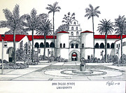 Other Famous University Campus Buildings - San Diego State by Frederic Kohli