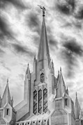 Angel Moroni Framed Prints - San Diego Temple Framed Print by Kevin Rowe