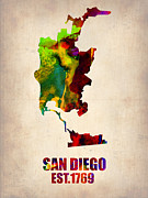 Irina  March - San Diego Watercolor Map