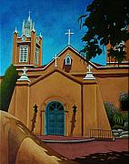 Albuquerque Paintings - San Felipe de Neri by Gayle Faucette Wisbon