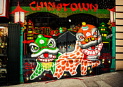 Chinese Lanterns Framed Prints - San Fran China Town Framed Print by Sonja Quintero