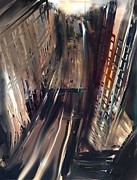 San Francisco Mixed Media Metal Prints - San Fran from Above Metal Print by Russell Pierce