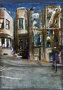 San Francisco Mixed Media Metal Prints - San Fran Street Metal Print by Russell Pierce