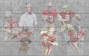 Offense Framed Prints - San Francisco 49ers Legends Framed Print by Joe Hamilton
