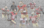 49ers Photo Posters - San Francisco 49ers Team Poster by Joe Hamilton
