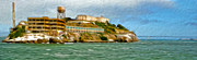 Alcatraz Painting Prints - San Francisco - Alcatraz - 02 Print by Gregory Dyer