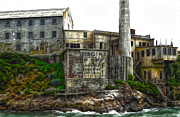 Alcatraz Painting Prints - San Francisco - Alcatraz - 04 Print by Gregory Dyer