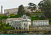 Alcatraz Painting Prints - San Francisco - Alcatraz - 05 Print by Gregory Dyer