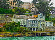 Alcatraz Painting Prints - San Francisco - Alcatraz - 06 Print by Gregory Dyer