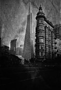 Flat Iron Framed Prints - San Francisco Architecture Framed Print by Chad Tracy