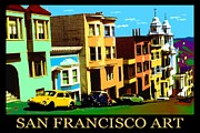 Usa Prints Mixed Media - San Francisco Art Poster by Peter Art Print Gallery  - Paintings Photos Posters