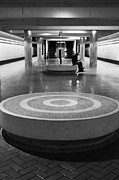 Mass Transit Prints - San Francisco BART Station Platform - 5D20618 - Black and White Print by Wingsdomain Art and Photography
