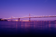 Bay Bridge Posters - San Francisco Bay Bridge at Sunset Poster by Mandy Wiltse