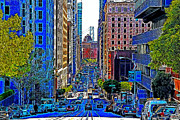 San Francisco Financial District Digital Art - San Francisco California Street 7D7187 20130505v1 by Wingsdomain Art and Photography