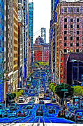 Bay Area Digital Art - San Francisco California Street 7D7187 20130505v2 by Wingsdomain Art and Photography