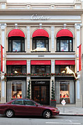 Posh Framed Prints - San Francisco Cartier Storefront - 5D20567 Framed Print by Wingsdomain Art and Photography