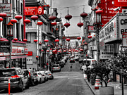 Chinese Lanterns Prints - San Francisco - Chinatown 014 Print by Lance Vaughn