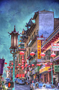 Architecture Posters - San Francisco Chinatown Poster by Juli Scalzi