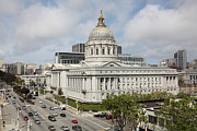Civic Center Framed Prints - San Francisco City Hall 5D22505 Framed Print by Wingsdomain Art and Photography