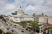 Civic Center Framed Prints - San Francisco City Hall 5D22507 Framed Print by Wingsdomain Art and Photography