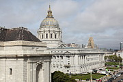 Cityscapes Photography Framed Prints - San Francisco City Hall 5D22547 Framed Print by Wingsdomain Art and Photography