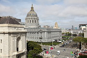 Civic Center Framed Prints - San Francisco City Hall 5D22554 Framed Print by Wingsdomain Art and Photography