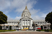 Civic Center Framed Prints - San Francisco City Hall 5D22569 Framed Print by Wingsdomain Art and Photography
