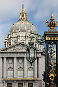 City Hall Prints - San Francisco City Hall 5D22576 Print by Wingsdomain Art and Photography